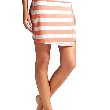 Athleta Womens Ribbon Stripes Mini Skirt