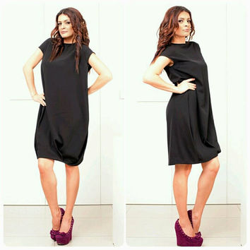 plus size clothing black dress loose black tunic oversize ma