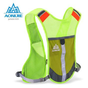 AONIJIE Marathon reflective Backpacks Bicycle Bike Cycling Climbing Camping Hiking Outdoor Sports Packsacks Running Vest Bags