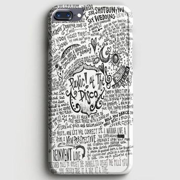 Panic! At The Disco Lyric 3 Cover iPhone 8 Plus Case | casescraft