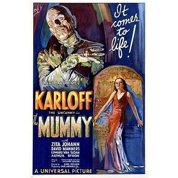 BORIS KARLOFF the mummy MOVIE POSTER 1932 campy classic horror 24X36 SCARY