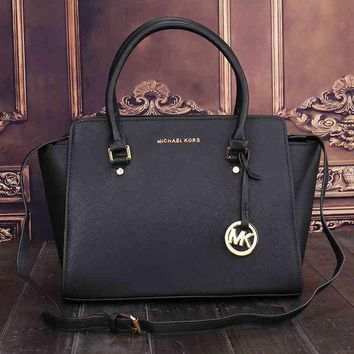 Mk Women Ping Bag Leather Satchel Crossbody Handbag Shoulder
