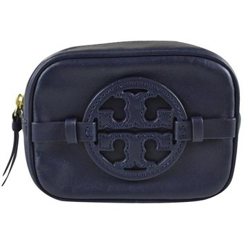 Tory Burch Classic Holly Cosmetic Makup Case Tory Navy