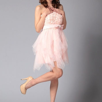 NEW Elegant Evening Dress Short Strapless tutu dress princess dress bridesmaid dress bride dress WD0218 = 1929445060