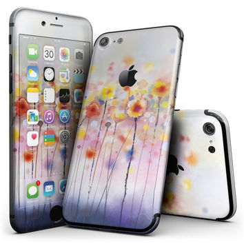 Drizzle Watercolor Flowers V1 - 4-Piece Skin Kit for the iPhone 7 or 7 Plus