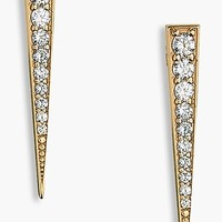 Women's Lana Jewelry 'Fatale' Diamond Linear Earrings
