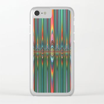 Mirrored Flames Clear iPhone Case by Lyle Hatch