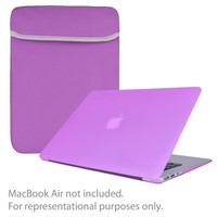 SlickBlue 4-in-1 Accessory Kit for 13 MacBook Air w-Sleeve-Hard Case Cover-Keyboard Cover-Screen Protector (Purple)