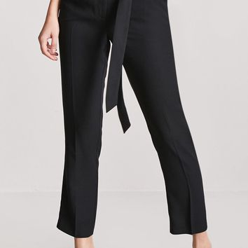 Crepe High-Waist Trousers