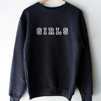 Girls Sweater - Dark Heather Grey