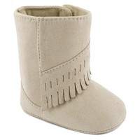 Wee Kids Fringe Boot Crib Shoes - Baby Girl (Brown)