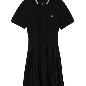 Fred Perry - Pleated Piqué Dress Black