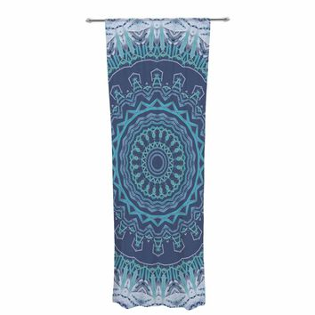 "Alison Coxon ""Gypsy Vibe Blue"" Blue Lavender Digital Decorative Sheer Curtain"
