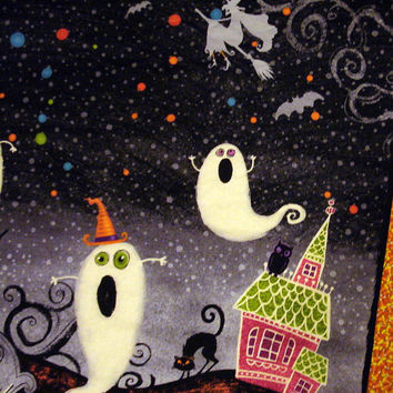 Ghostly Reversible Table Topper, Fall Table Topper, Pumpkins, Corn, Happy Halloween, Fall, Autumn