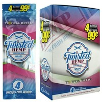 Twisted Hemp Wraps Tropical Breeze Flavor (60 wraps)