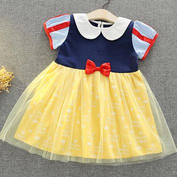 2018 NEW Summer Girls Dresses  Baby Girl Princess Dress Halloween Party Christmas Costume Children Clothing Cosplay girls party