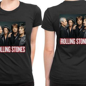 ICIK7H3 The Rolling Stones Cover Photo 2 Sided Womens T Shirt