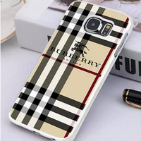 Burberry Pattern London Samsung Galaxy S7 Edge Case  Sintawaty.com