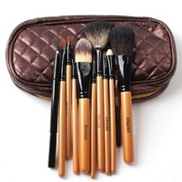 Beauty Cosmetic Makeup 10pcs Brushes Set Kit with Pouch