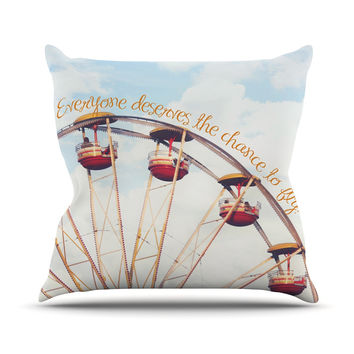 "Beth Engel ""The Chance To Fly"" Ferris Wheel Throw Pillow"