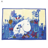 "Moomin and bath products • bath mat ""flower meadow"" and Nordic ☆ Maru, (65 x 45 cm) Interior / anime toy store ☆ cinema collection ◆"