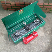 Coleman Three Burner Camp Stove 426D - Very Nice - Clean - Working - with Instruction Booklet and Service Flyer