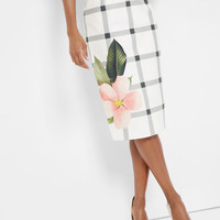 Secret Trellis pencil skirt - White | Skirts & Shorts | Ted Baker