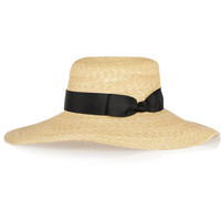 Finds - + Hatmaker Nivola grosgrain-trimmed straw hat