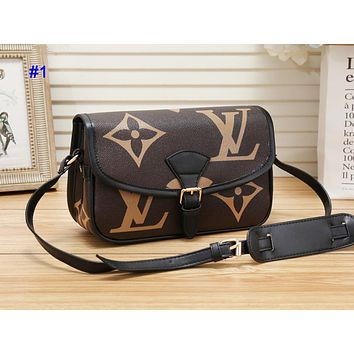 LV hot seller of fashion contrast color printed casual lady shopping shoulder bag #1