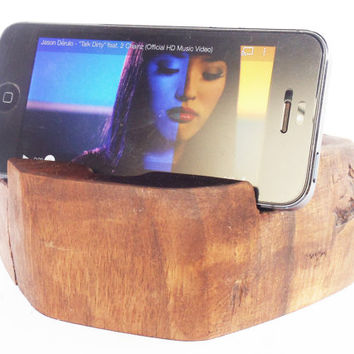 Wooden iPhone stand, Docking Station for iPhone, iPhone Accessories, Wooden Cell Phone Docking Station, iPhone 6 stand, Rustic iPhone holder