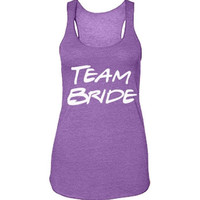 Team Bride Racerback Tank