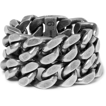 Saint Laurent - Burnished Silver-Tone Ring