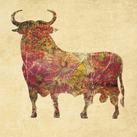 $19.00 The vintage bull Art Print by Farnell | Society6