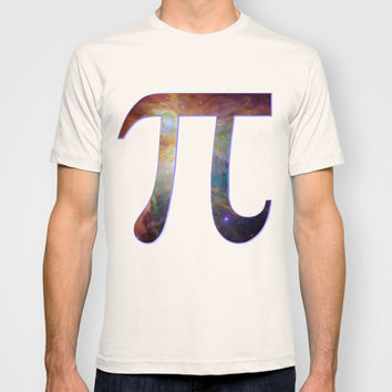 Happy pi day - pi geek design with galaxy space nebula stars background math nerd geeky hipster T-shirt by IGallery
