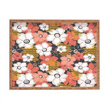 Heather Dutton Petals And Pods Lava Rectangular Tray