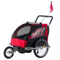 Aosom 2 in 1 Child Bike Trailer and Stroller