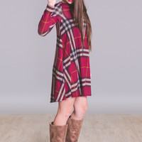 Open Road Plaid Printed Pocket Dress