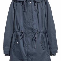 Padded parka - Dark blue - Ladies | H&M CA