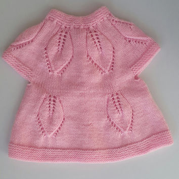 baby vest,  knit baby dress, knitted baby dress, baby knit vest, baby clothes, baby shower gift, hand knit baby dress, knitted baby clothes