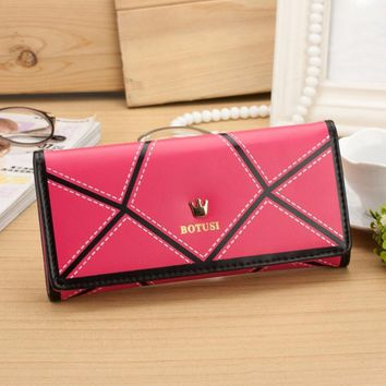 New Arrival luxury womens wallets and purses PU leather Long Wallets Women Clutch Purse For Lady Wallets #EY