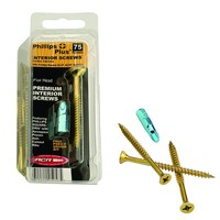 Phillips #9 3 in. Phillips-Square Flat-Head Wood Screws (75-Pack)-10300 - The Home Depot