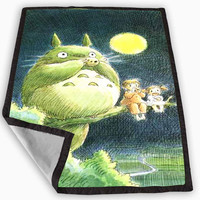 Totoro Blanket for Kids Blanket, Fleece Blanket Cute and Awesome Blanket for your bedding, Blanket fleece **