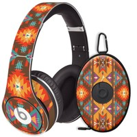 Aztec Tribal Decal Skin for Beats Studio Headphones & Carrying Case by Dr. Dre