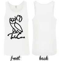 xo take care owl ovoxo take care the weeknd tank top