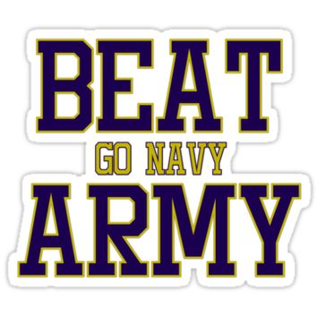 'Go Navy Beat Army' Sticker by alexandriaroseq