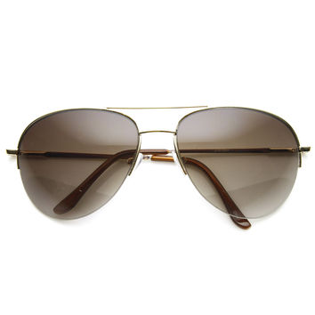 Premium Aviator Sunglasses Spring Hinges 8952