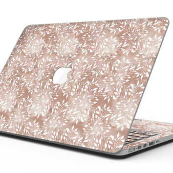 Brown and White Fractal Pattern - MacBook Pro with Retina Display Full-Coverage Skin Kit