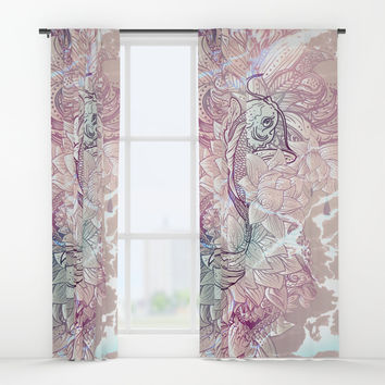 koi fish Window Curtains by printapix