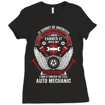 I Own It Forever The Title Auto Mechanic Ladies Fitted T-Shirt