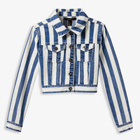 Striped Denim Jacket (Kids)